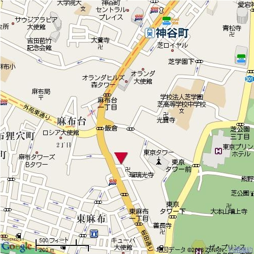 TOWER FRONT 神谷町地図
